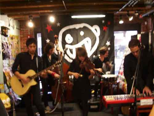 The Airborne Toxic Event @ Newbury Comics in Boston