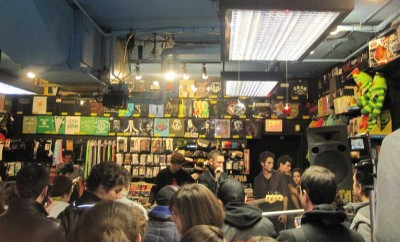 The xx at their in-store appearance at Newbury Comics, Newbury Street, Boston