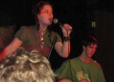 Holly with their friend Joe on guitar.