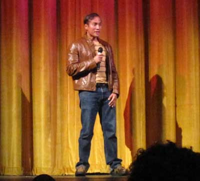 Filmmaker Gil Reyes, during the Q&A.