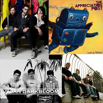 (upper left): Appreciation Post; (bottom right): Plushgun (photo by Siobhan O'Brien)