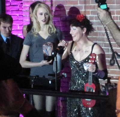 Amanda Palmer accepts her 'Artist of the Year' award.