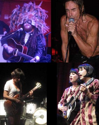 Some of my favorite concert moments - Walter Sickert (& the Army of Broken Toys), Iggy Pop (and The Stooges), Sarah Negahdari (of The Happy Hollows) and Evelyn Evelyn
