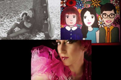 (clockwise from top left): Anna Rose, The Trachtenburg Family Slideshow Players, and Kim Boekbinder (photo by Shami Kiely)