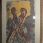 'Lovers' rice paper serigraph, from his Tarot Card series, circa 1975