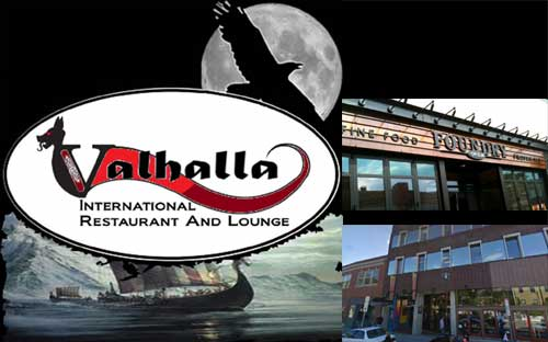 Valhalla International Restaurant and Lounge, and future sites of The Davis Square Theater and The Sinclair