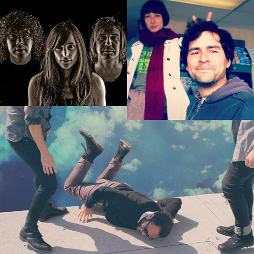 (top left to bottom): Nightmare Air, Malcolm Sosa and Kim Haden, Local Natives