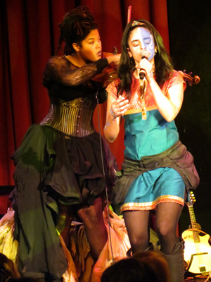 Rachel and Singer Mali of Jaggery at Oberon