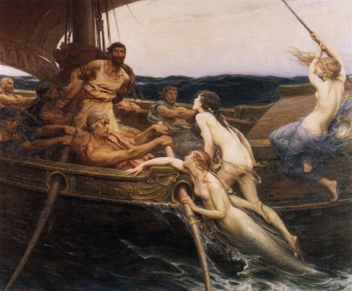 Ulysses and the Sirens, by Herbert James Draper, 1909
