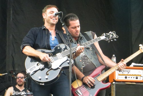Daren Taylor, Mikel Jollett and Noah Harmon of The Airborne Toxic Event at Boston Calling