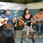 The Happy Hollows on a backyard deck for Echo Park Rising