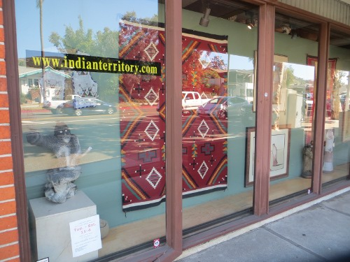 Nothing says white bread yuppie quite like a plate glass display of traditional Native American handicrafts