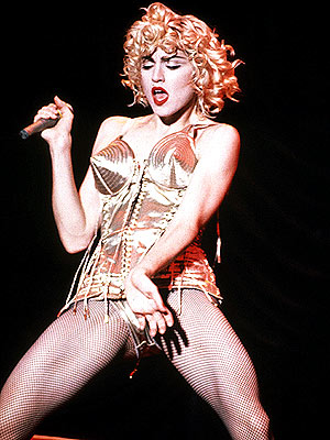 Madonna, from the Blond Ambition Tour, 1990