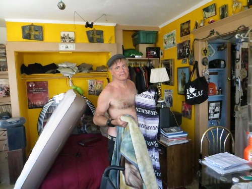 The inimitable Peter Choyce, in his infamous Echo Park digs.