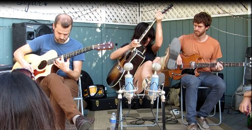 The Happy Hollows' at Sofar show in Echo Park