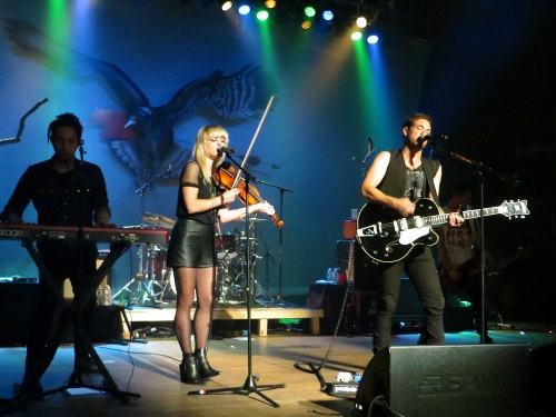 The Airborne Toxic Event at Lupo's in Providence Photo by Julie Stoller