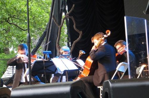 The Calder Quartet at SummerStage Photo by Julie Stoller